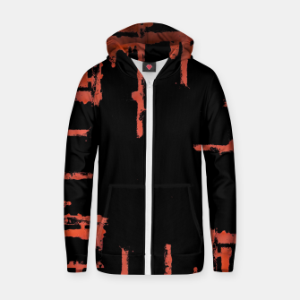 Thumbnail image of Red And Black Abstract Grunge Print Zip up hoodie, Live Heroes