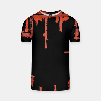 Thumbnail image of Red And Black Abstract Grunge Print T-shirt, Live Heroes