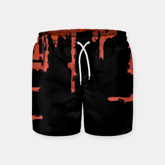 Thumbnail image of Red And Black Abstract Grunge Print Swim Shorts, Live Heroes