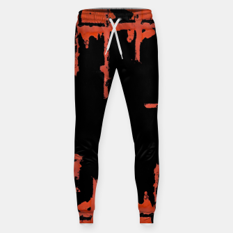 Thumbnail image of Red And Black Abstract Grunge Print Sweatpants, Live Heroes