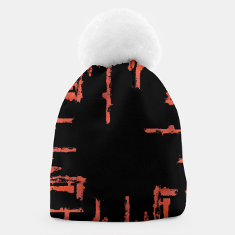 Thumbnail image of Red And Black Abstract Grunge Print Beanie, Live Heroes