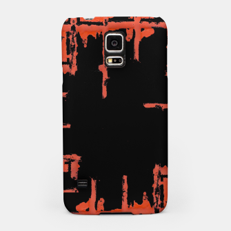 Thumbnail image of Red And Black Abstract Grunge Print Samsung Case, Live Heroes