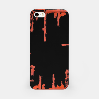 Thumbnail image of Red And Black Abstract Grunge Print iPhone Case, Live Heroes
