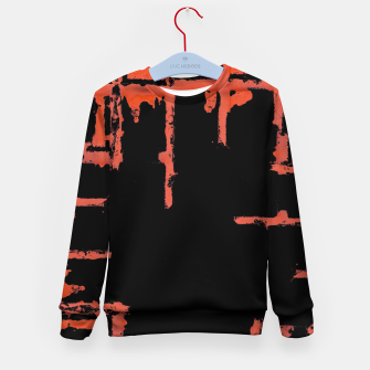 Thumbnail image of Red And Black Abstract Grunge Print Kid's sweater, Live Heroes