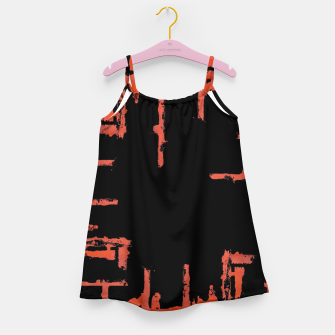 Thumbnail image of Red And Black Abstract Grunge Print Girl's dress, Live Heroes