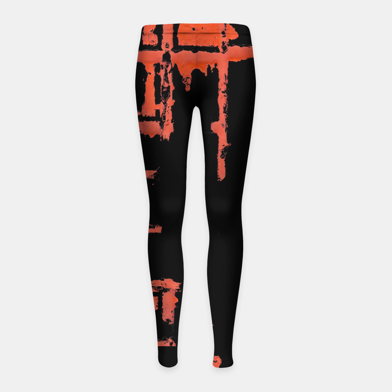 Image of Red And Black Abstract Grunge Print Girl's leggings - Live Heroes