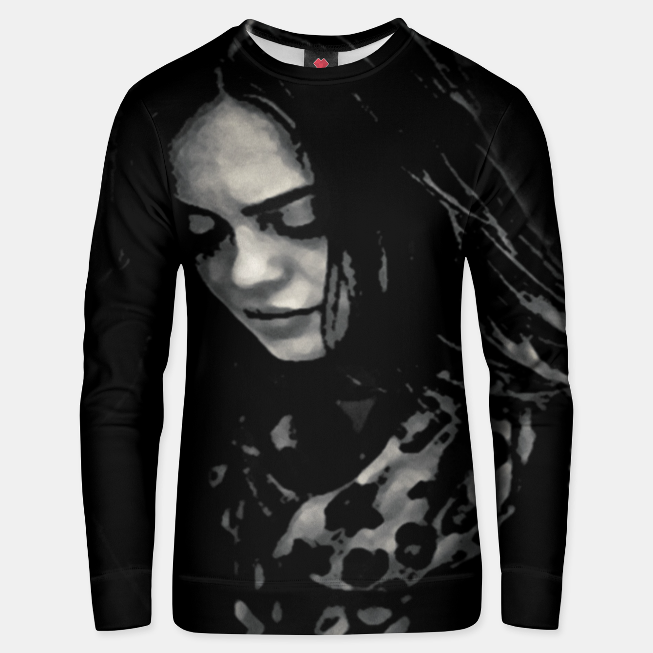 Image of Beauty Woman Black and White Photo Illustration Unisex sweater - Live Heroes