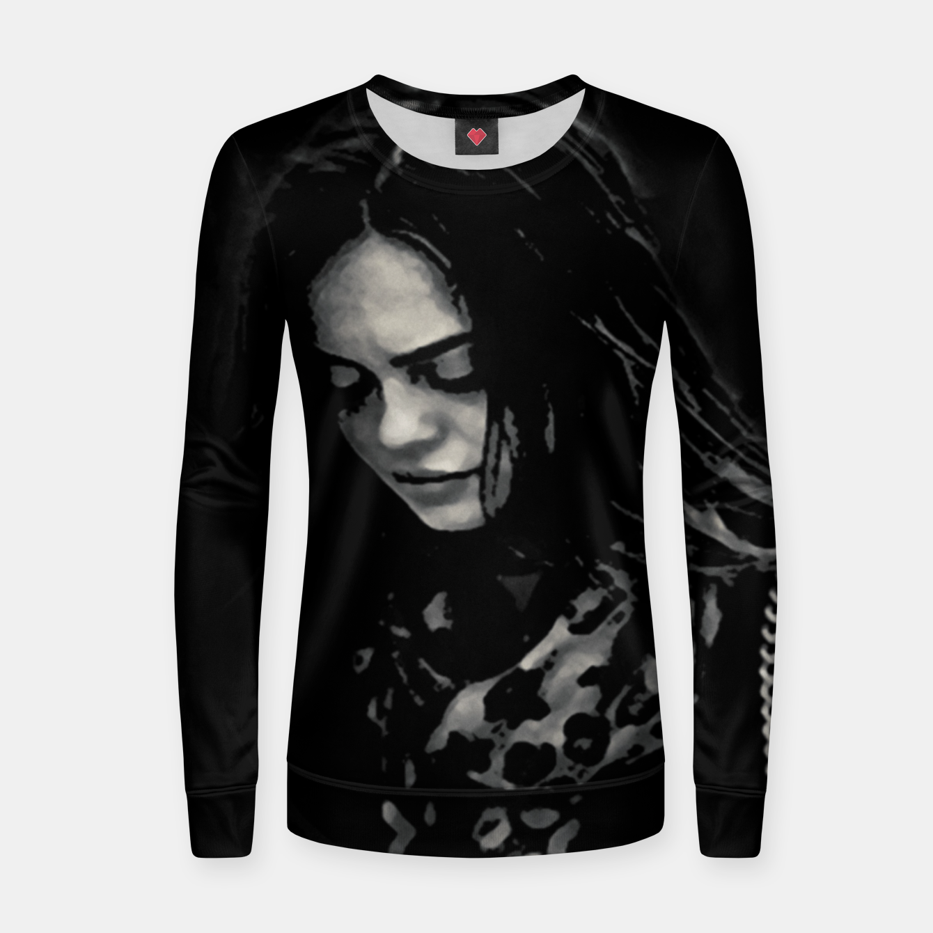 Image of Beauty Woman Black and White Photo Illustration Women sweater - Live Heroes