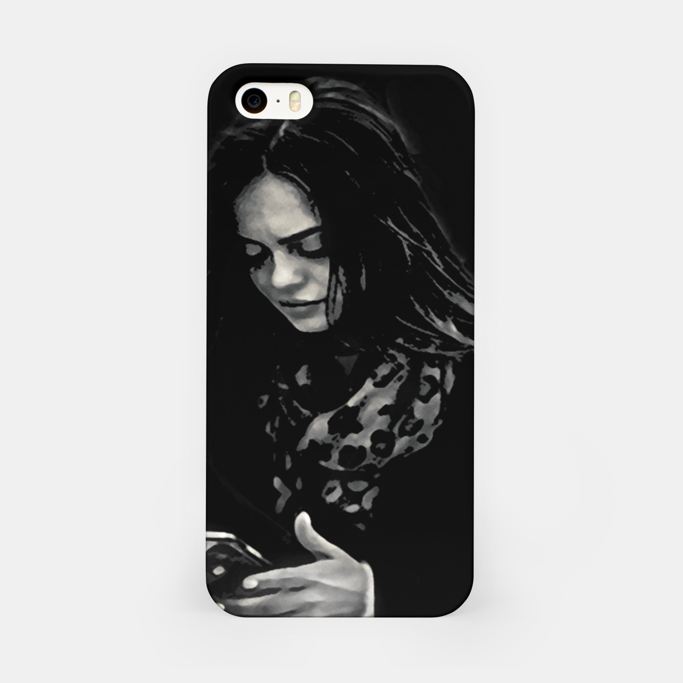Image of Beauty Woman Black and White Photo Illustration iPhone Case - Live Heroes