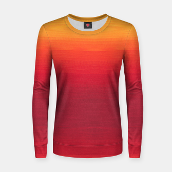 Thumbnail image of Orange Gradian Colour Fabric Texture  Women sweater, Live Heroes