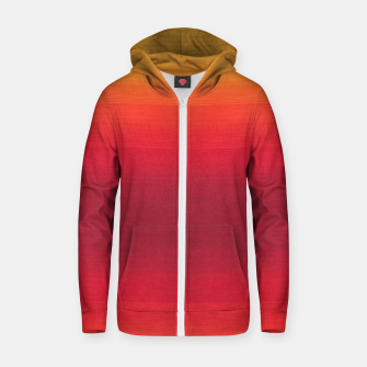 Thumbnail image of Orange Gradian Colour Fabric Texture  Zip up hoodie, Live Heroes