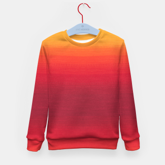 Thumbnail image of Orange Gradian Colour Fabric Texture  Kid's sweater, Live Heroes