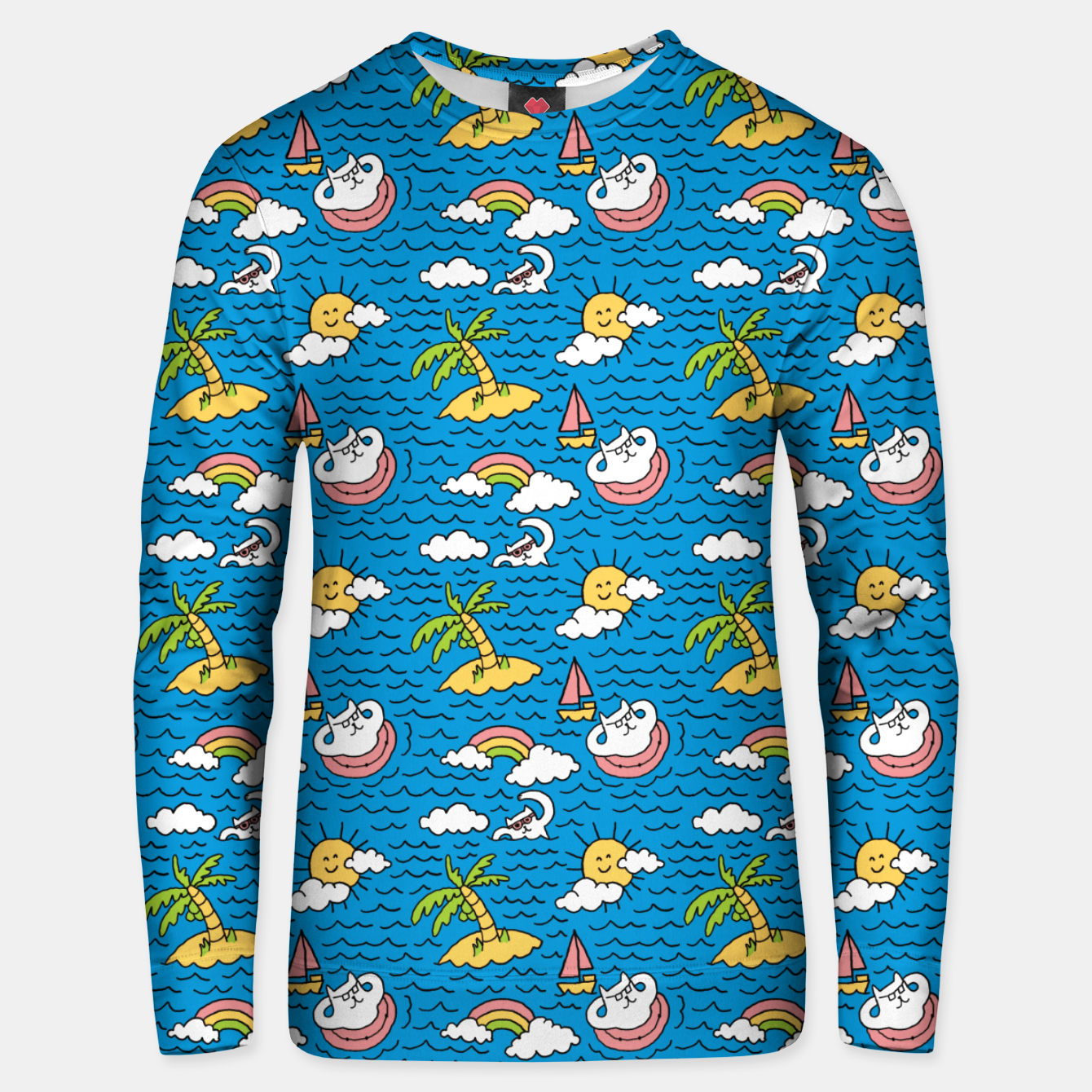 Image of Cats on Vacation Unisex sweater - Live Heroes