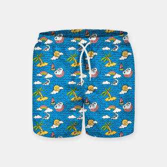 Thumbnail image of Cats on Vacation Swim Shorts, Live Heroes