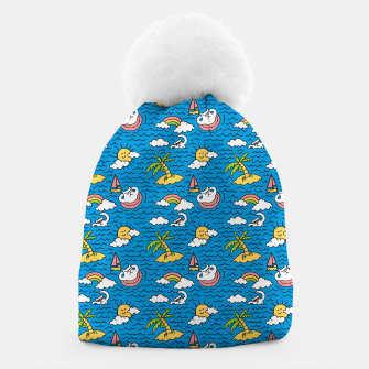 Thumbnail image of Cats on Vacation Beanie, Live Heroes