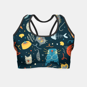 Thumbnail image of Cats Crop Top, Live Heroes
