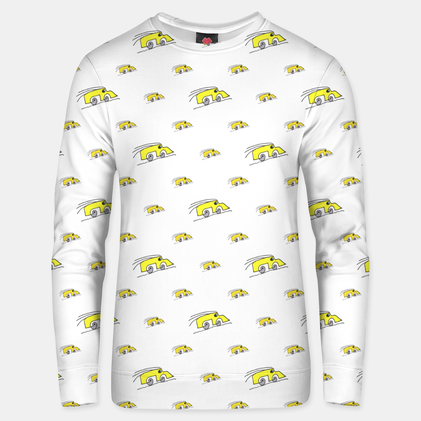 Image of Cartoon Funny Weird Car Motif Pattern Unisex sweater - Live Heroes