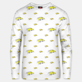 Thumbnail image of Cartoon Funny Weird Car Motif Pattern Unisex sweater, Live Heroes