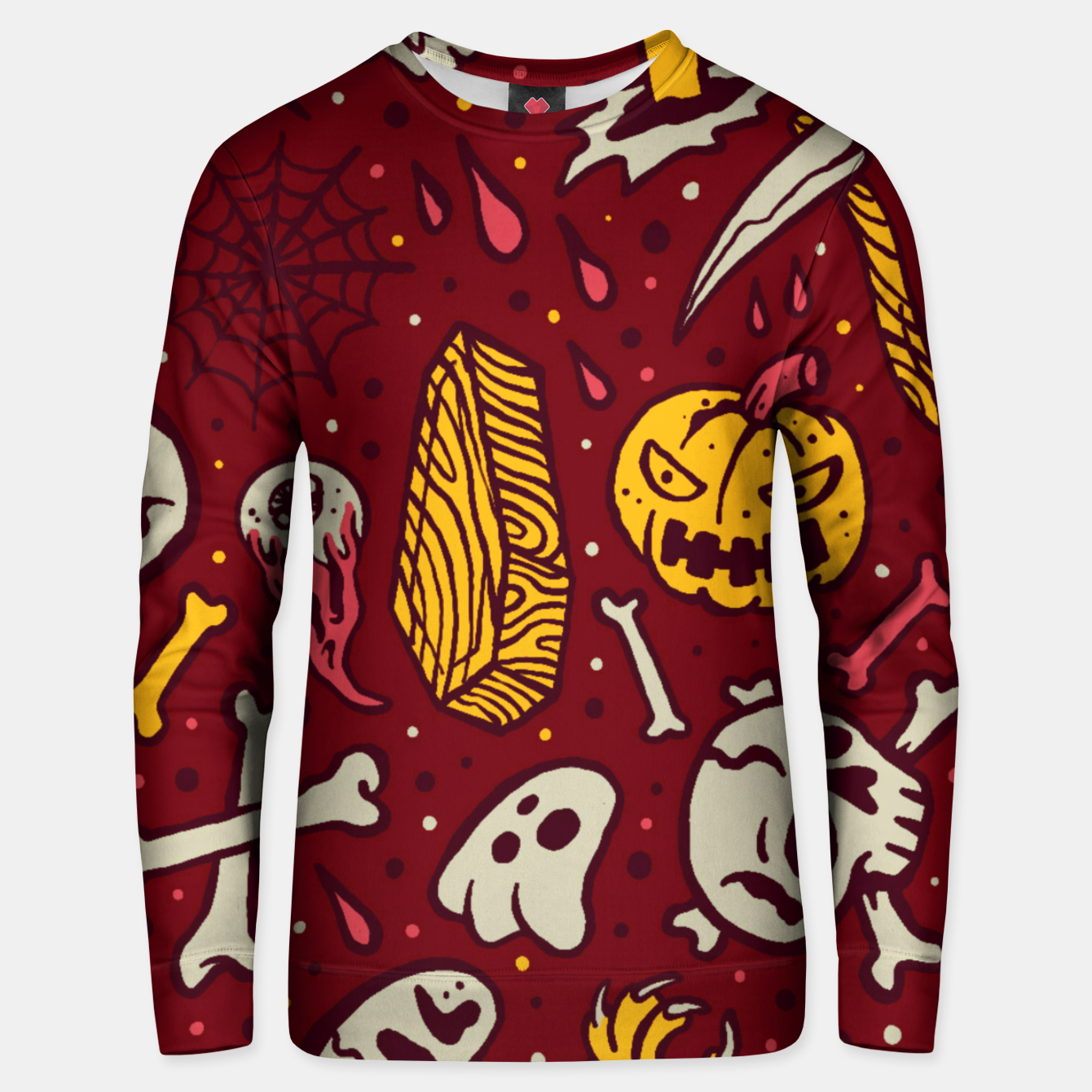 Image of Horror Pattern Unisex sweater - Live Heroes