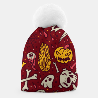 Thumbnail image of Horror Pattern Beanie, Live Heroes
