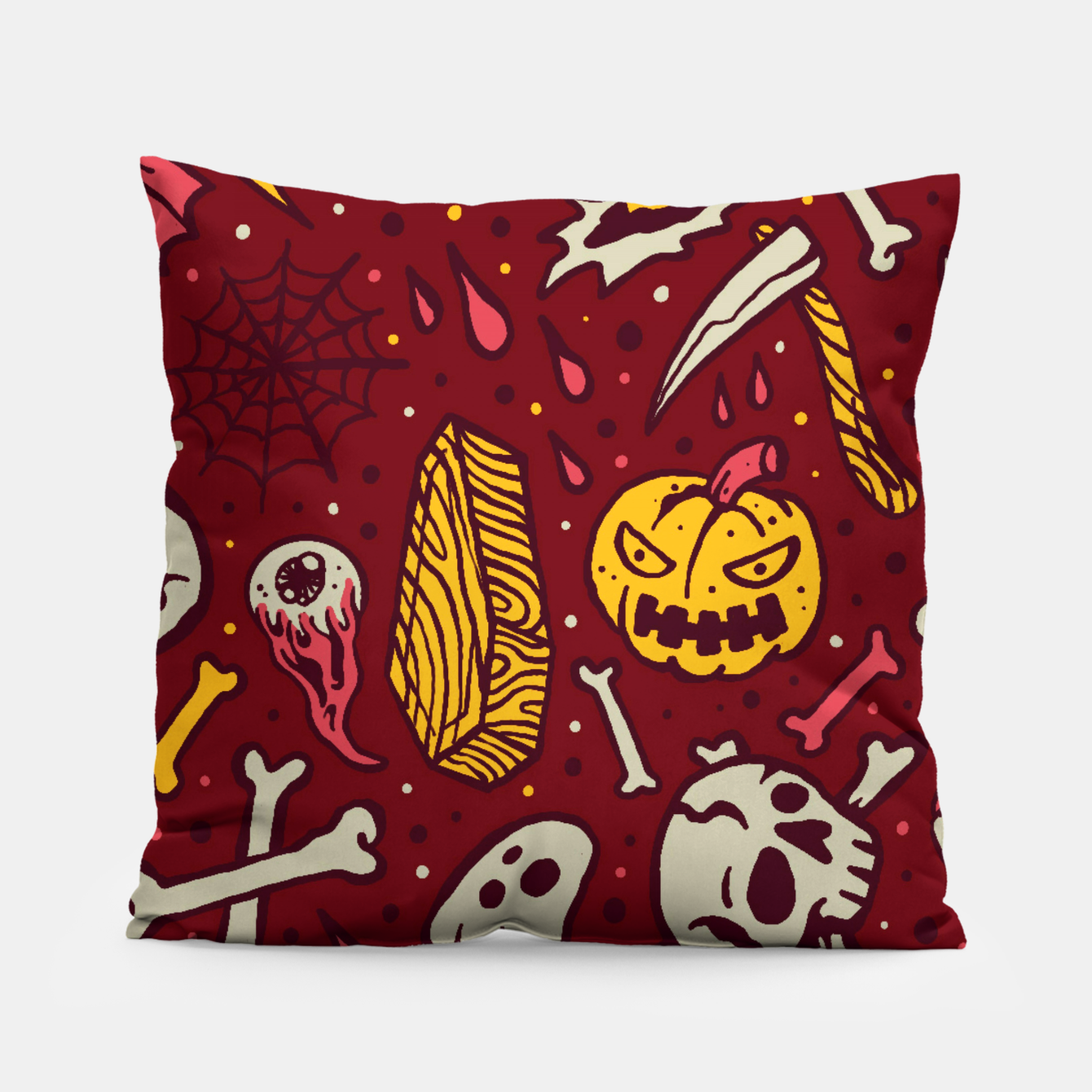 Image of Horror Pattern Pillow - Live Heroes