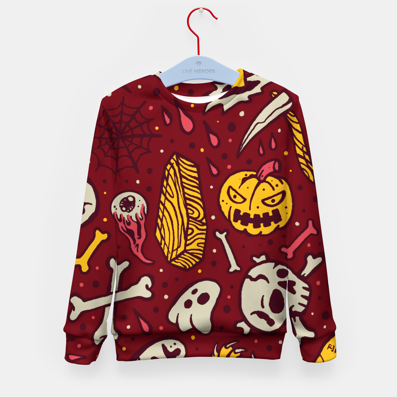 Image of Horror Pattern Kid's sweater - Live Heroes