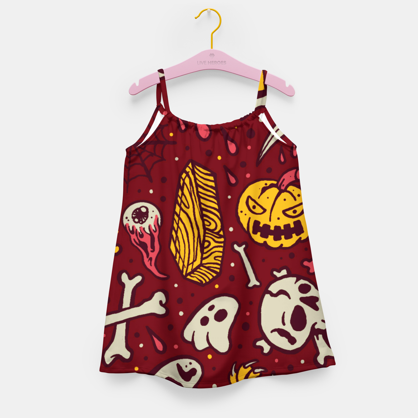 Image of Horror Pattern Girl's dress - Live Heroes