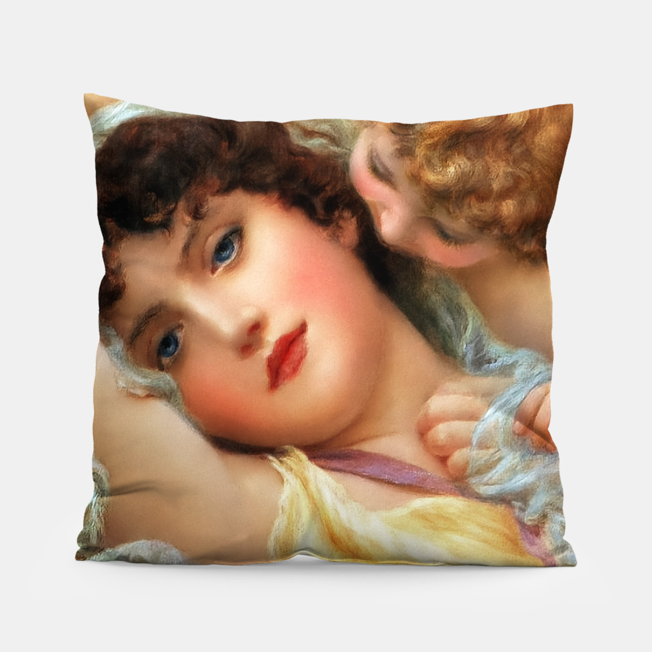Image of Love Whispers by Norman Prescott-Davies Pillow - Live Heroes