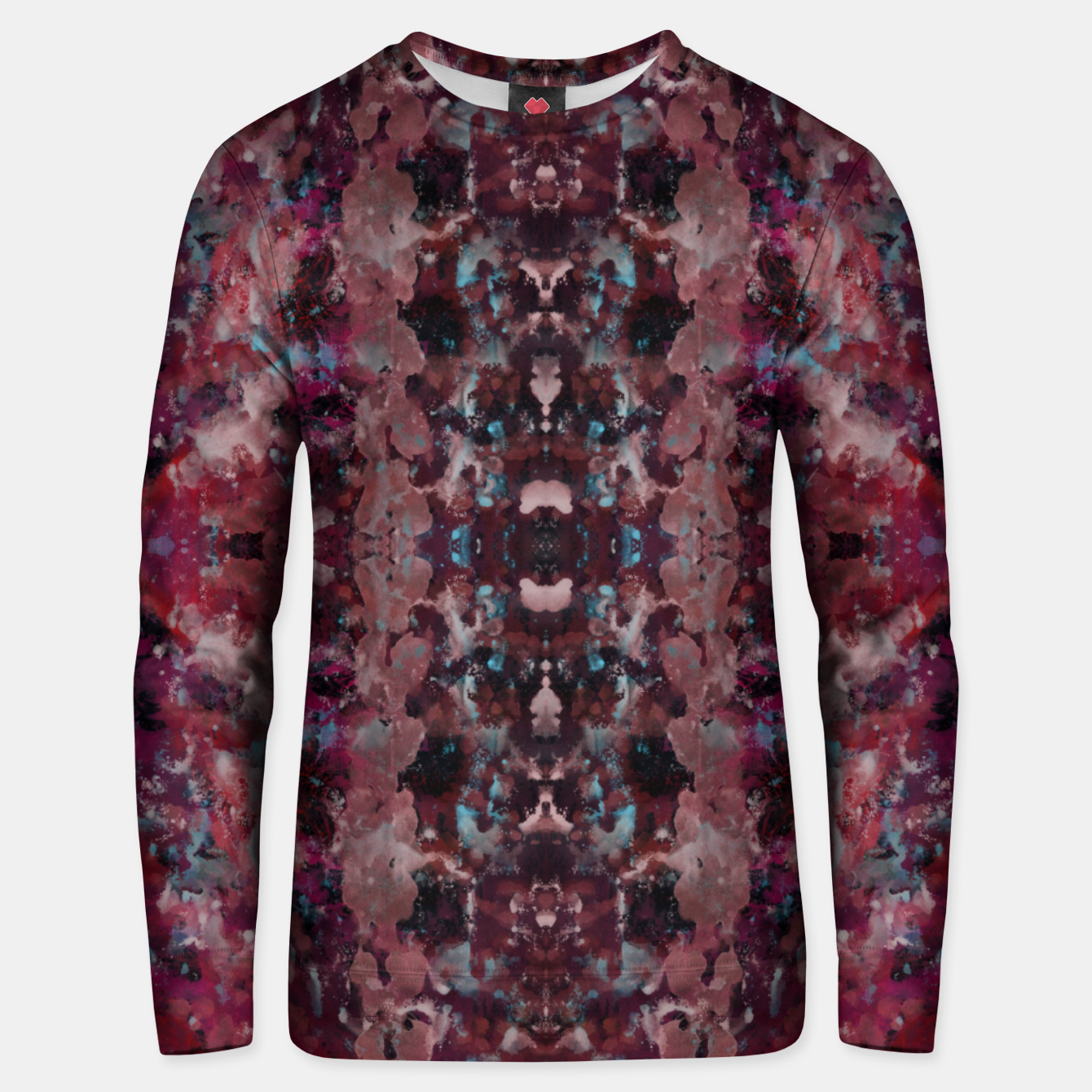 Image of Dark Red Painting Texture Unisex sweater - Live Heroes