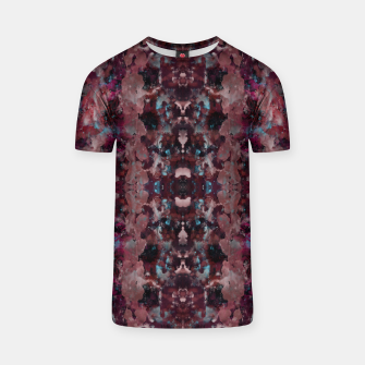 Thumbnail image of Dark Red Painting Texture T-shirt, Live Heroes