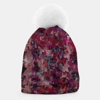 Thumbnail image of Dark Red Painting Texture Beanie, Live Heroes