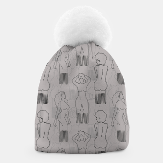 Thumbnail image of Black woman-shaped comb on grey Gorro, Live Heroes