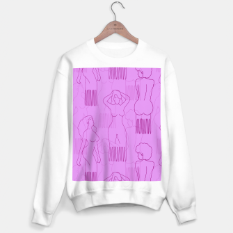 Thumbnail image of Red woman-shaped comb on pink Sudadera regular, Live Heroes