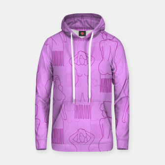 Thumbnail image of Red woman-shaped comb on pink Sudadera con capucha, Live Heroes