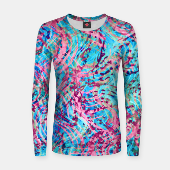 Thumbnail image of Texture Painting 31 Women sweater, Live Heroes