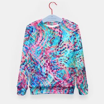 Thumbnail image of Texture Painting 31 Kid's sweater, Live Heroes