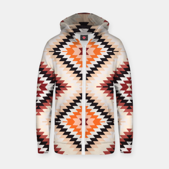 Thumbnail image of Boho Southwest Oriental Traditional Geometric Style Zip up hoodie, Live Heroes