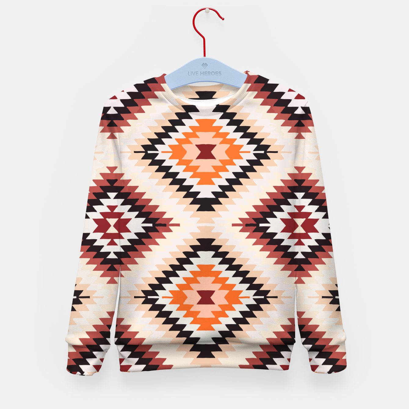 Image of Boho Southwest Oriental Traditional Geometric Style Kid's sweater - Live Heroes