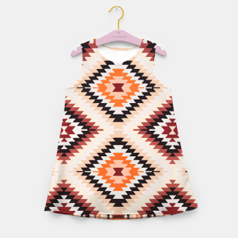 Thumbnail image of Boho Southwest Oriental Traditional Geometric Style Girl's summer dress, Live Heroes
