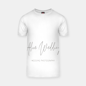 Thumbnail image of Hand-painted plants romantic wedding T-shirt, Live Heroes