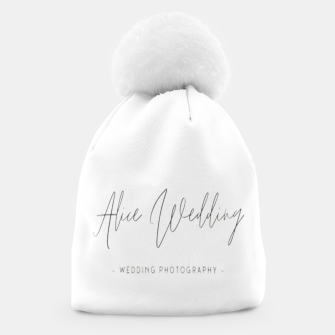 Thumbnail image of Hand-painted plants romantic wedding Beanie, Live Heroes