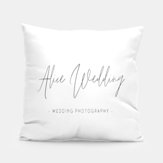 Thumbnail image of Hand-painted plants romantic wedding Pillow, Live Heroes