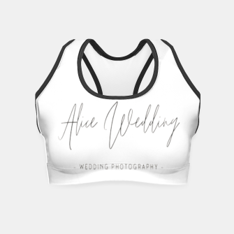 Thumbnail image of Hand-painted plants romantic wedding Crop Top, Live Heroes