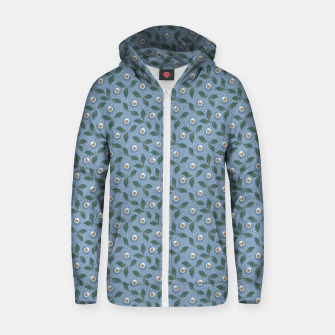 Thumbnail image of Dancing flowers with lively leaves Zip up hoodie, Live Heroes