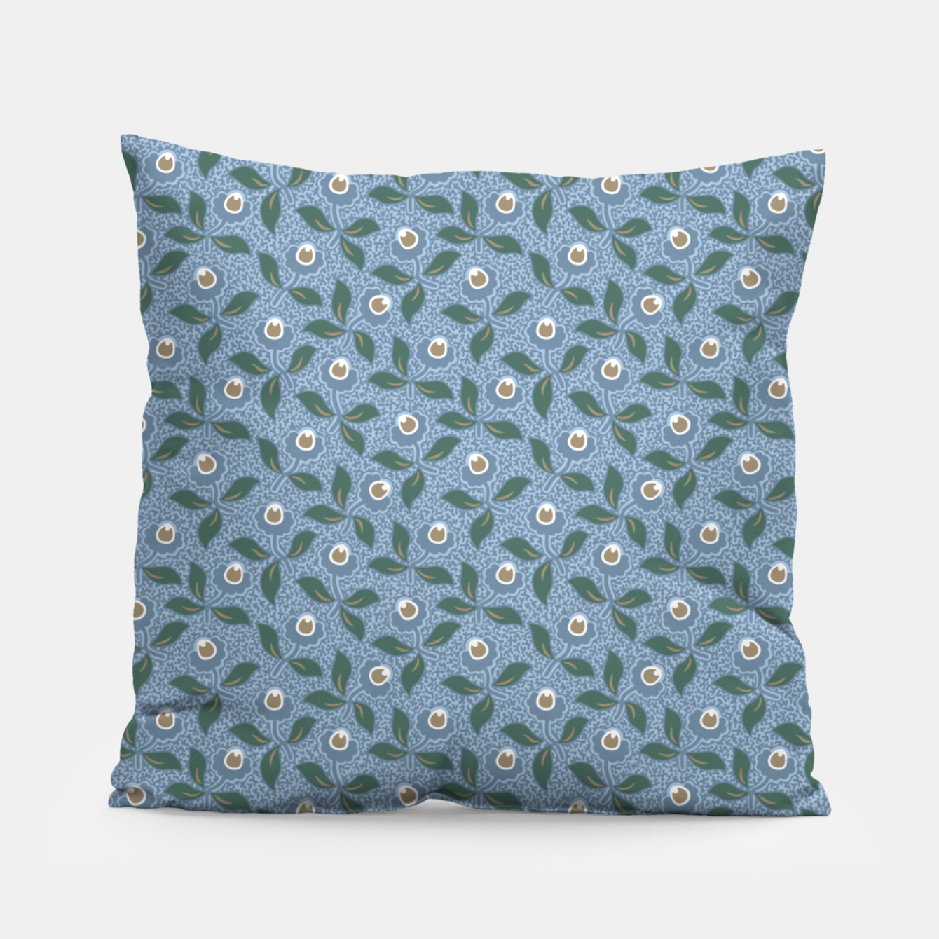 Image of Dancing flowers with lively leaves Pillow - Live Heroes
