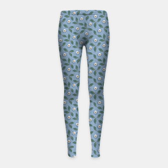 Thumbnail image of Dancing flowers with lively leaves Girl's leggings, Live Heroes