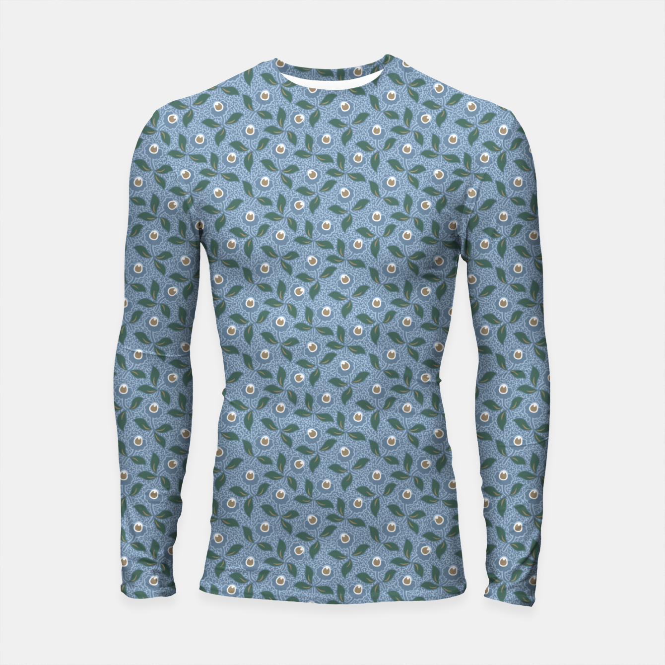 Image of Dancing flowers with lively leaves Longsleeve rashguard  - Live Heroes