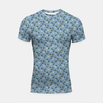 Thumbnail image of Dancing flowers with lively leaves Shortsleeve rashguard, Live Heroes