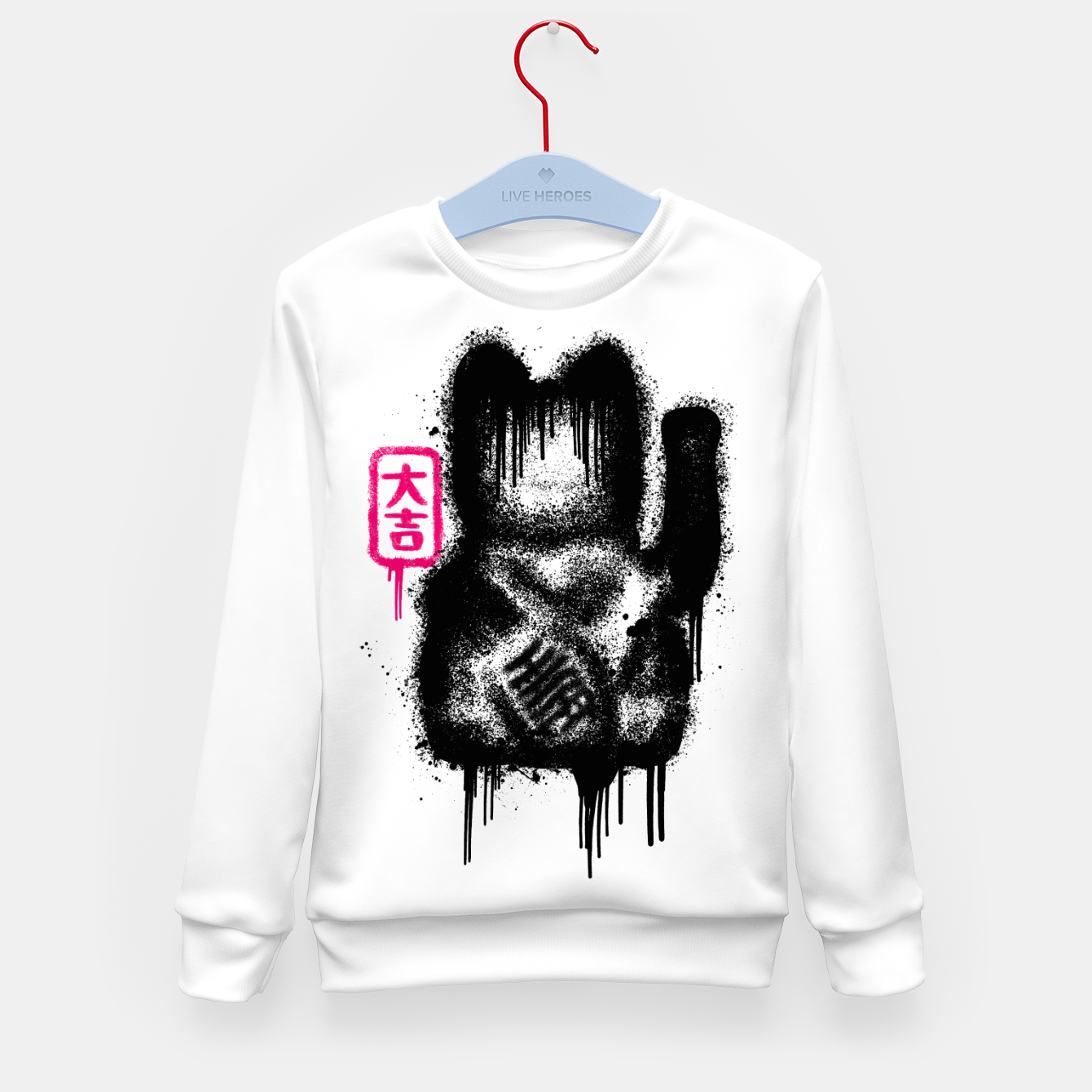 Image of Lucky Cat Spray Kid's sweater - Live Heroes
