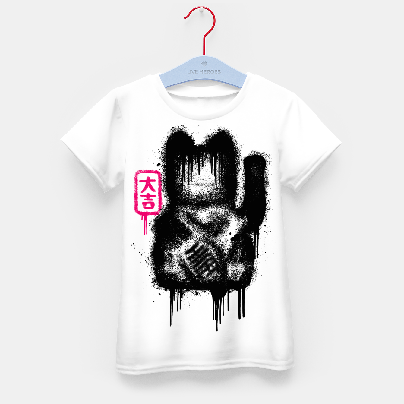 Image of Lucky Cat Spray Kid's t-shirt - Live Heroes